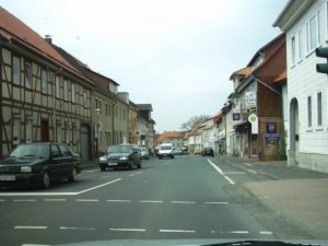 Die Ortsdurchfahrt von Dransfeld